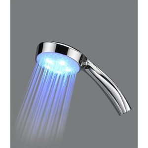 Abs nickel plated shower head with LED
