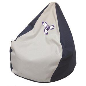 fauteuil poire marine / blanc