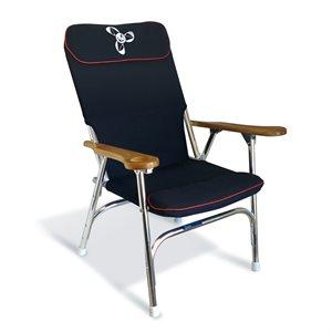 chaise de pont pliante deluxe en aluminium