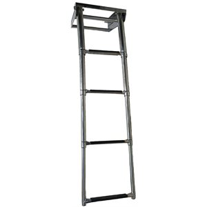 stainless steel 4 step telescopic ladder
