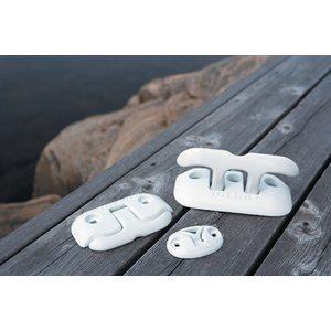"aluminum flip-up dock cleat, 6"" white"