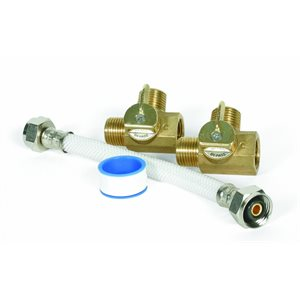 "by-pass kit, 8"" supreme perm brass for 6gal tank"