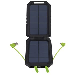 3-output usb solar battery pack