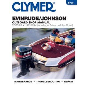 service manual evinrude / johnson 2-300 hp ob 91-1993