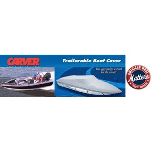 17' v-hull side console fishing boat cover - o / b