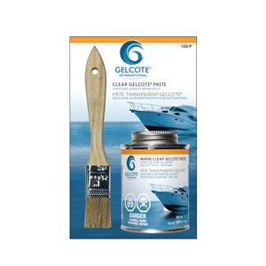 clear gelcote paste kit with airdry / hardner, 250ml