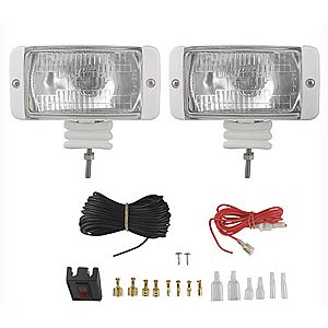docking light kit - 55 watt - lighted switch and safety-fused wiring - white housing