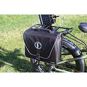 half saddle bag - black