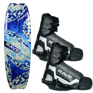 freestyle wakeboard with striker boots
