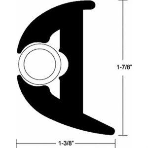 kit moulure vinyle av / garn. noire 50'