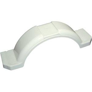 """WHITE PLASTIC STEP FENDER  14"""" / 15"""""""