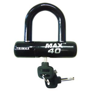 high security disc u-lock black