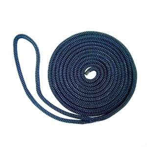 "double braided nylon dock line 3 / 8"" x 20' navy"