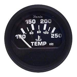 euro black water temperature gauge