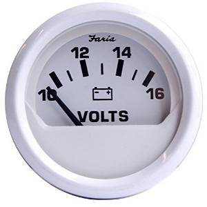 dress white voltmeter gauge