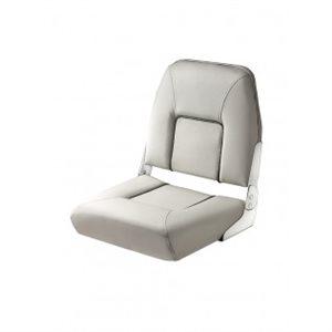 all white folding seat