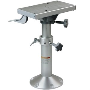 "17"" to 25"" adjustable pedestal with locking slider"