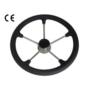 "13.5"" stainless steel steering wheel with foam sleeve"