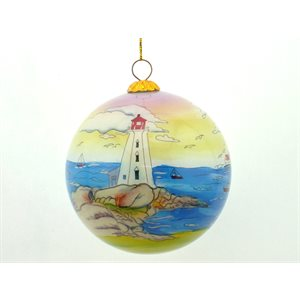 Glass Ornament of Lighthouse