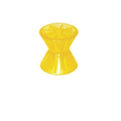 """ROULEAU DE PROUE POLYMÈRE 4""""(jaune)"""