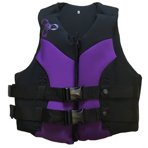 Neoprene Canadian approved women's outdoor sports and boating life jacket vest, LARGE
