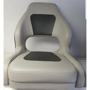 deluxe light & dark grey bucket seat