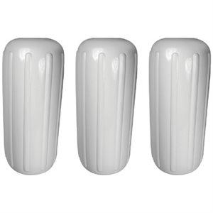 ribbed center fender white. 3-pk, 8'' x 20''