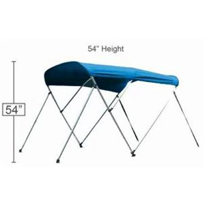 "Bimini top blue 72"" l x 54"" h x 73-78"" w"