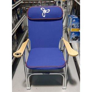 Chaise de pont pliante dlx bleu royal