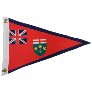 ONTARIO TRIANGULAR FLAG PENNANT 12'' X 19.5'' X 19.5''
