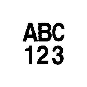 """lettrage #7 noir 3"""""""