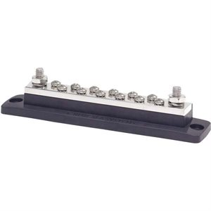 "MaxiBus 250A BusBar - Two 5 / 16""-18 Studs and Twelve #10-24 Screws"