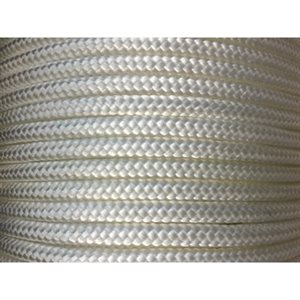 "double braided nylon rope 3 / 16"" white"