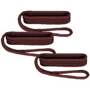 """câblot de défense nylon tressé double 6' x 3 / 8"""" bourgogne / pqt3"""