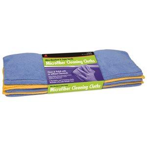 5-pk flat microfiber cleaning cloths, 16'' x 16''