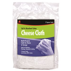 cheese cloth 2 sq yd.