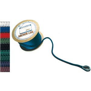 "double braided nylon anchor line 1 / 2"" x 100' forest green"