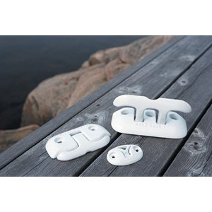"aluminum flip-up dock cleat, 8"" white"