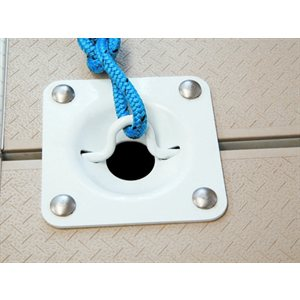 dock cleat, recessed white