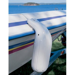 90 degrees boat fender - 5'' x 14'' white