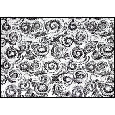 outdoor mat, 8' x 16', charcoal swirl, w / uv