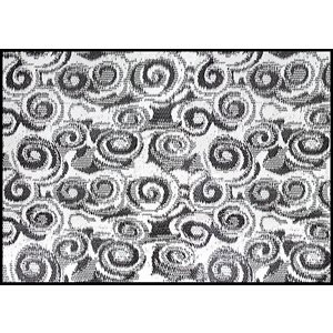 outdoor mat, 8' x 16', charcoal swirl, w / uv