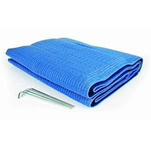 awning mat - 6' x 9' blue reversable