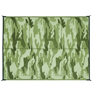 Tapis d'extérieur - 6 'x 9' camouflage, vert / vert