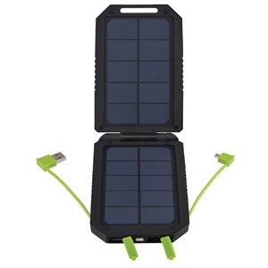 chargeur solaire 6500mah av / 3 prises usb
