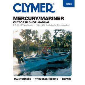 manuel d'entretien mercury / mariner 2.5-60 ch ob 94-97