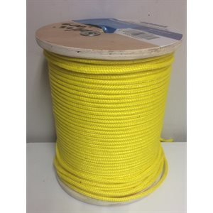 "double braided floatting olefin rope 1 / 4"" yellow"