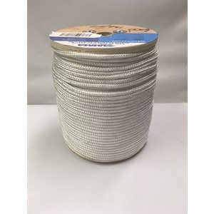 "double braided floating olefin rope 1 / 4"" white"