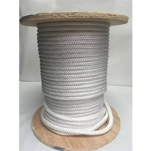 "double braided floatting rope 3 / 8"" white"