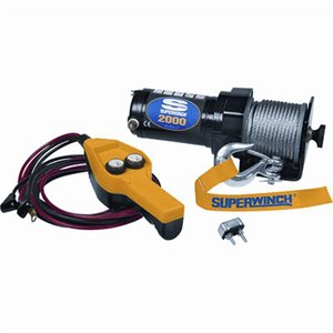 stainless steel cable winch - 1.5 hp, 2,000 lb. capacity